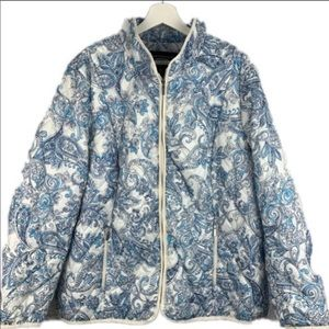 Land's End Primaloft Quilted Paisley Coat Size 3X